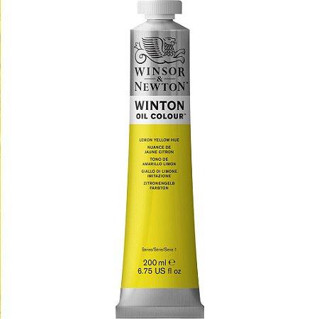 Tinta Óleo Winton Lemon Yellow Hue Winsor Newton Tubo 200ml