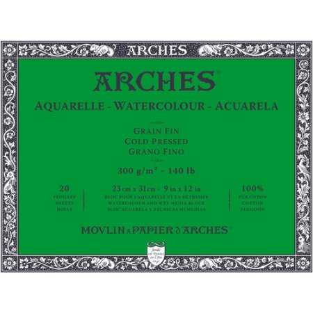 Bloco Arches Papel Aquarela Cold Pressed 23X31Cm 20 Folhas