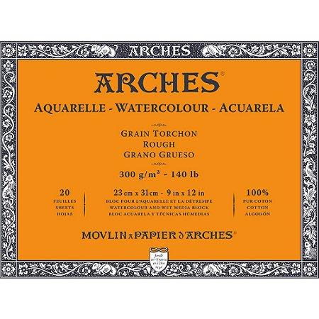 Bloco Arches Papel Aquarela Rough Torchon 23X31Cm 20 Folhas