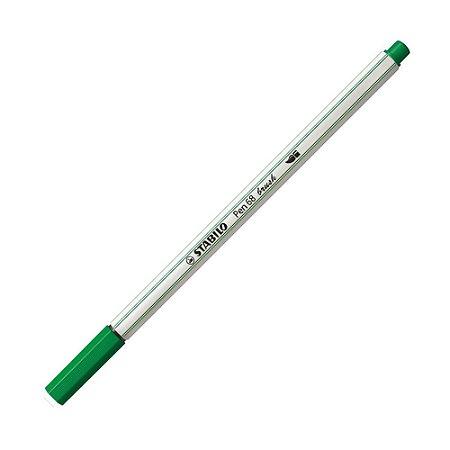 Caneta Pincel Stabilo Pen 68 Brush Lettering Verde Oliva 568/36