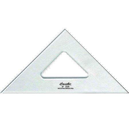 Esquadro Trident Acrílico 26Cm 45°/45°/90° Sem Escala 2526
