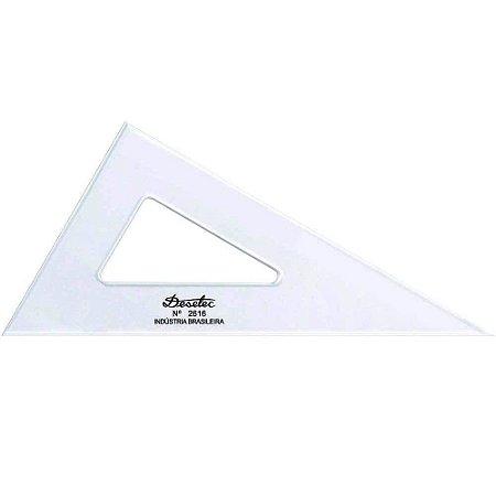 Esquadro De Acrílico 16Cm 30°/60°/90° Sem Escala Trident 2616