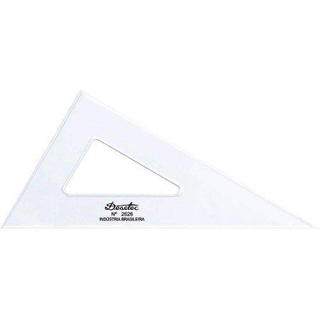 Esquadro Trident Acrílico 26Cm 30°/60°/90° Sem Escala 2626