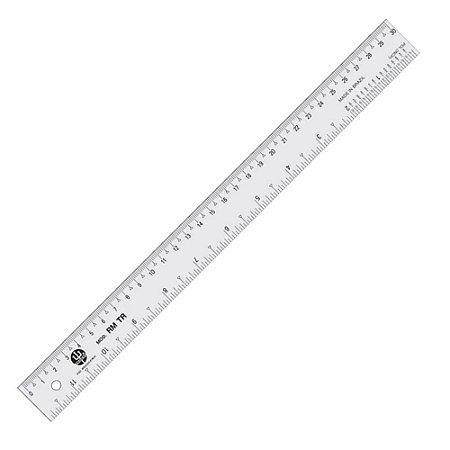 Regua Molegata Trident 30 cm em Pvc Transparente