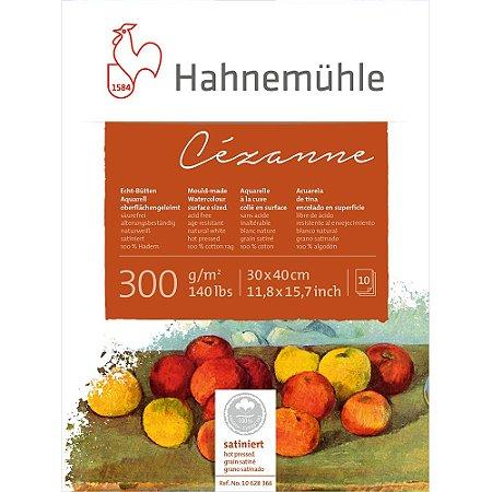 Bloco Aquarela Cezanne Hahnemuhle 300 g/m² 30x40 Hot Pressed 10Fls