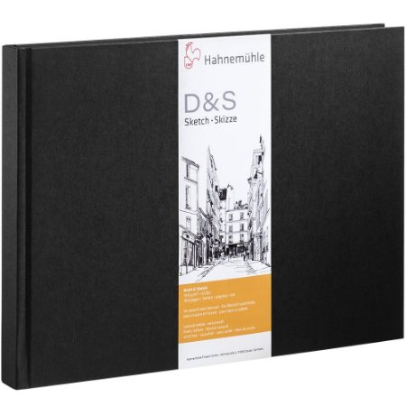 Sketch Book A4 Hahnemuhle D&S Preto 140 g/m² 80Fls Paisagem