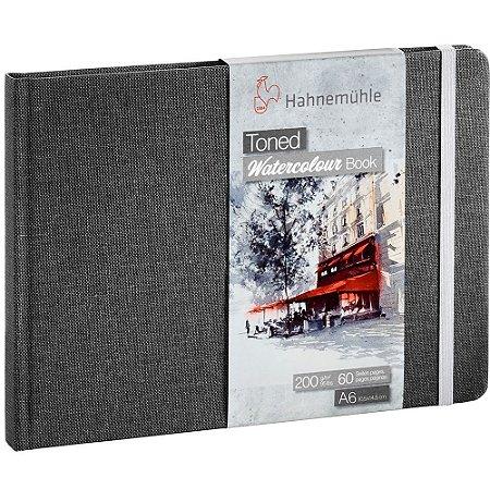 Bloco Sketch Book A6 Toned Hahnemuhle Cinza A6 200 g/m² 30Fls Paisagem Watercolour Book