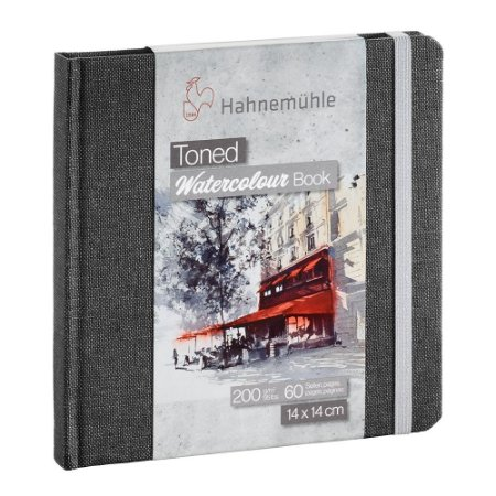 Bloco Sketch Book Hahnemuhle Toned Cinza 200 g/m² 30 Fls 14x14 Watercolour