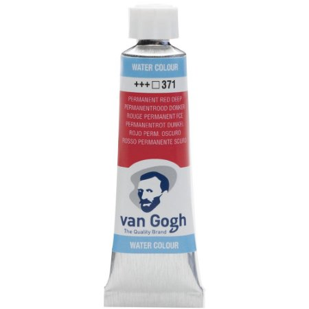 Tinta Aquarela Talens Van Gogh Permanent Red Deep 371 Tubo 10ml