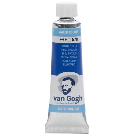 Tinta Aquarela Talens Van Gogh Phthalo Blue 570 Tubo 10ml