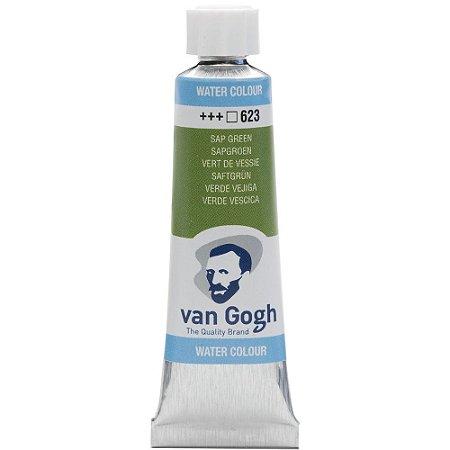 Tinta Aquarela Talens Van Gogh Sap Green 623 Tubo 10ml