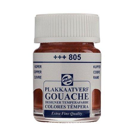 Tinta Gouache Talens Extra Fine 16ml Cobre 805