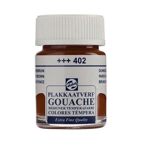 Tinta Gouache Talens Extra Fine 16ml Deep Brown 402