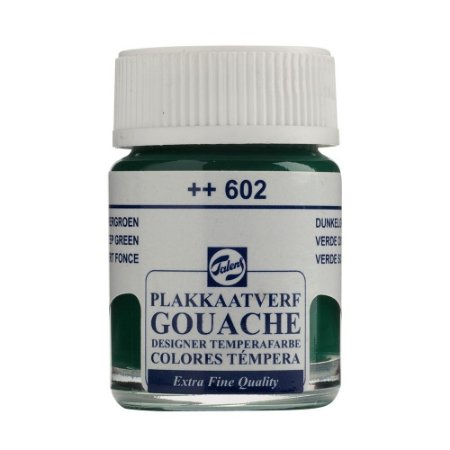 Tinta Gouache Talens Extra Fine 16ml Deep Green 602 Verde