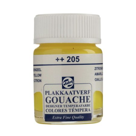 Tinta Gouache Talens Extra Fine 16ml Lemon Yellow 205