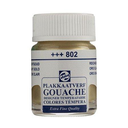 Tinta Gouache Talens Extra Fine 16ml Light Gold 802 Dourado