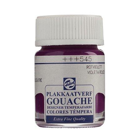 Tinta Gouache Talens Extra Fine 16ml Red Violet 545 Roxo