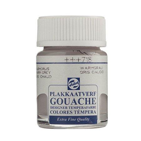 Tinta Gouache Talens Extra Fine 16ml Warm Grey 718 Cinza