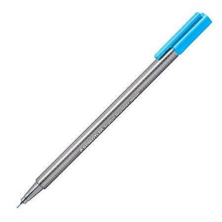 Caneta Triplus Fineliner Staedtler Azul Neon 0.3mm 334-301