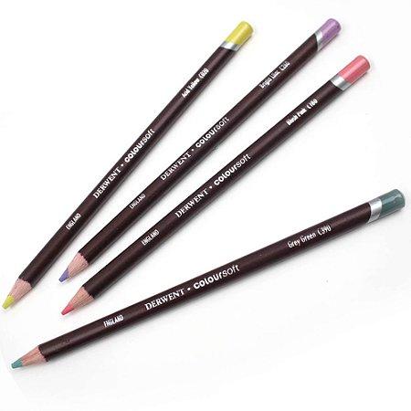 Lápis Cor Permanente Coloursoft Derwent C100 Rose Un 700962