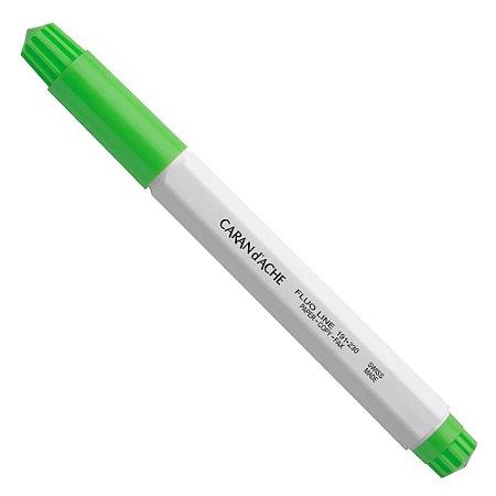 Marca-Texto Caran D'Ache Verde Fluo Base de Agua 191.230
