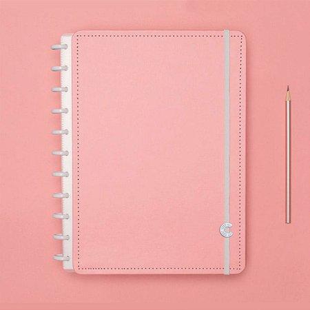 Caderno Inteligente Médio Rose Pastel Rosa 80 Fls