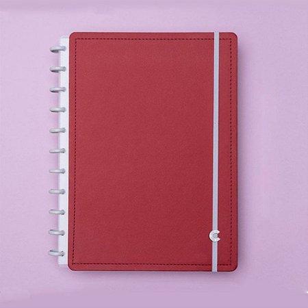 Caderno Inteligente Médio Vermelho Cereja 80 Fls