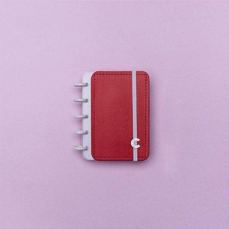 Caderno Inteligente Pequeno Inteligine Vermelho Cereja