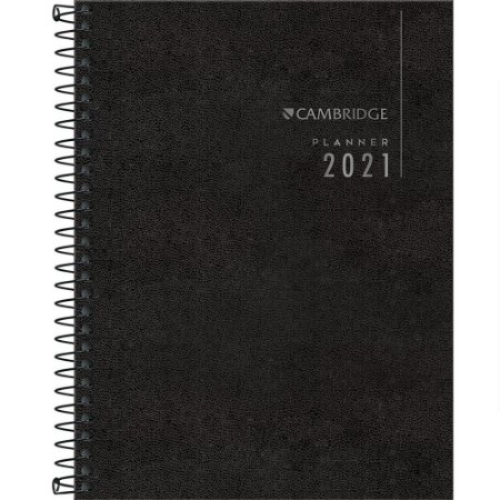 Planner Tilibra Cambridge 2021 Médio Espiral Executivo Preto