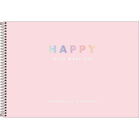 Caderno Happy De Cartografia E Desenho Espiral 80Fls Tilibra