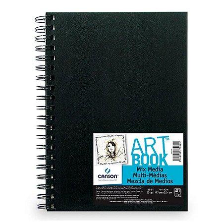 Caderno Artbook Canson Mix Media 224 g/m² 40Fls 17,8X25,4