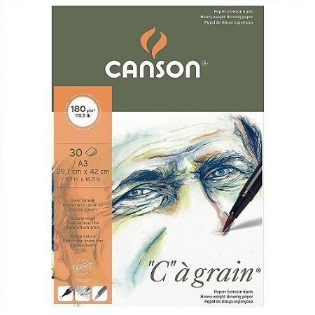 Bloco Canson C A Grain A3 180 g/m² Grão Fino 29,7x42 cm