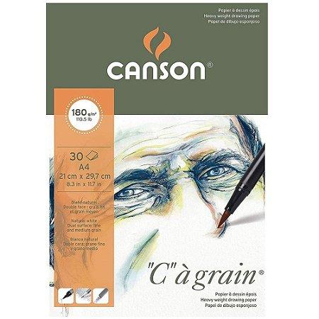 Bloco Canson C A Grain A4 180 g/m² Grão Fino 21x29,7 30 Fls