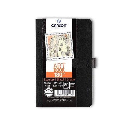 Caderno Artbook A6 Canson 96 g/m² 180° 80 Folhas