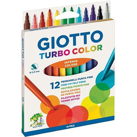 Caneta Giotto Hidrocor Turbo Color 12 Cores Intense Colors