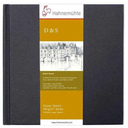 Sketch Book D&S Preto 140 g/m² 25x25 80Fls Hahnemuhle