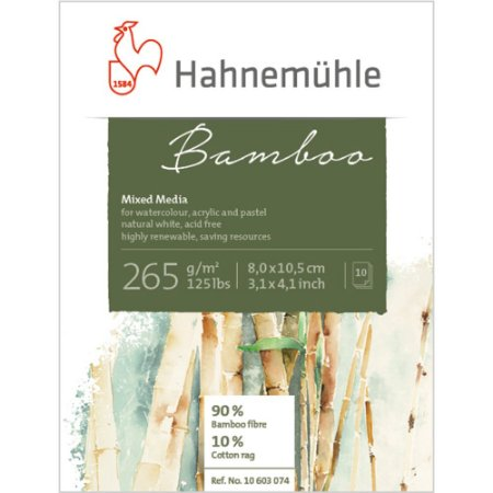 Bloco Bamboo Mixed Media Mini 265 g/m² 8x10,5 10Fls Hahnemuhle