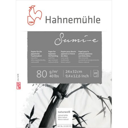 Bloco Sumi-E 80 g/m² Hahnemuhle 24x32 20 Folhas