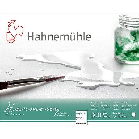 Bloco Aquarela Harmony 300 g/m² Hot Pressed 24x30 Hahnemuhle