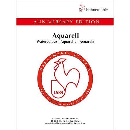 Bloco Aquarela Anniversary 425 g/m² Cold Pressed 24X32 15Fls Hahnemuhle