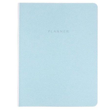 Planner Cicero Mensal Azul Pastel Planejamento 19x25