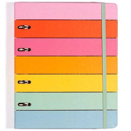 Caderno Fichário Criativo Cicero Todas Juntas 17X24 Arco-Iris