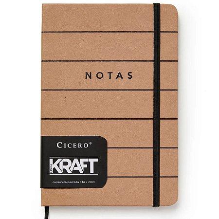Caderneta Cicero Kraft Pautado 14x21