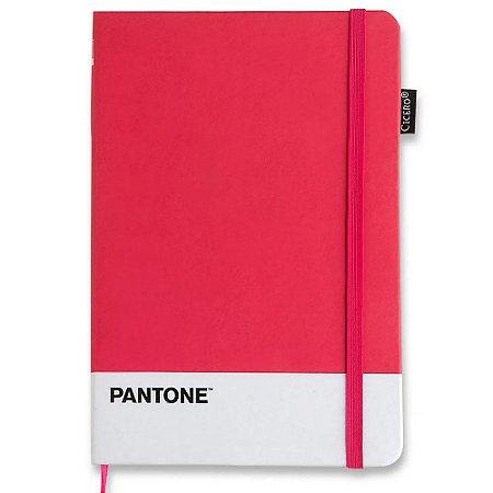 Caderneta Pantone Cicero Sem Pauta Rosa 14x21