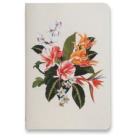 Caderneta Cicero Meu Pequeno Flora Tropical Pontado