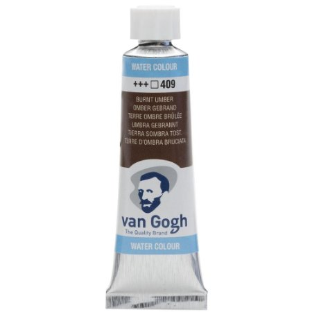 Tinta Aquarela Van Gogh 409 Burnt Umber 10Ml Talens