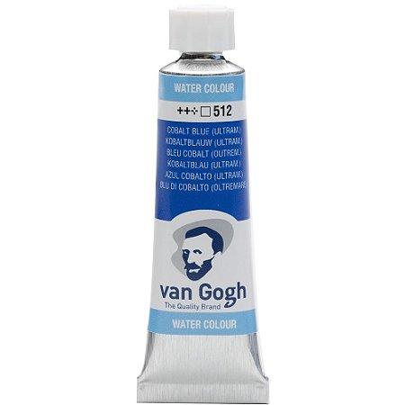 Tinta Aquarela Van Gogh 512 Cobalt Blue 10Ml Talens