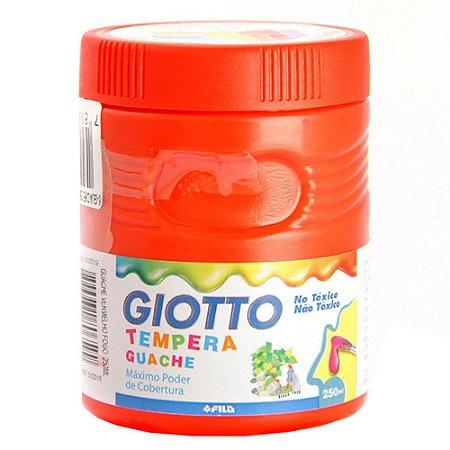 Tinta Guache Giotto Vermelho 250Ml