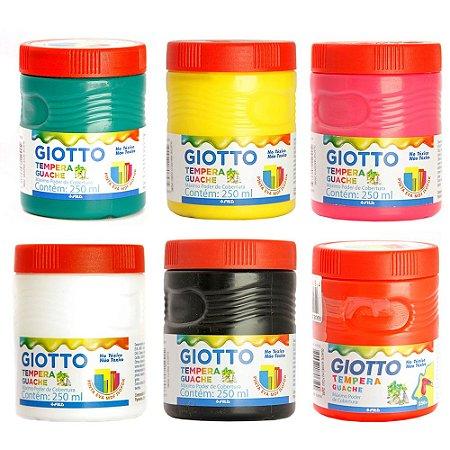 Kit Tinta Guache 250ml C/6 Cores Giotto