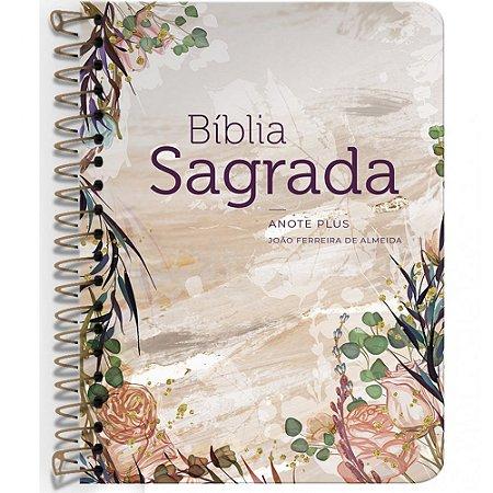 Bíblia Anote Plus Arc Espiral - Flor Marmorizada